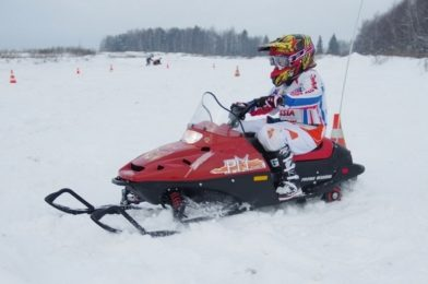 Snowmobile Taiga Lynx, for fishing trips with children
